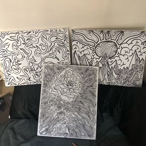 3 Custom Art Canvases by: ToadLeNior